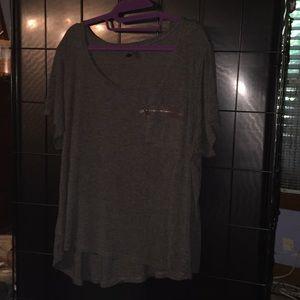 Gray lounge shirt